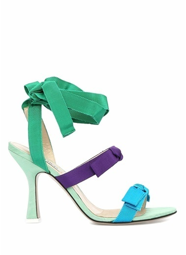 Attico İnce Topuklu Sandalet Renkli